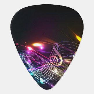 Music Notes in Color for Music-lovers Guitar Pick