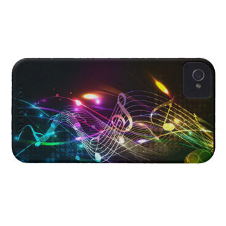 Music Notes in Color for Music-lovers iPhone 4 Cases