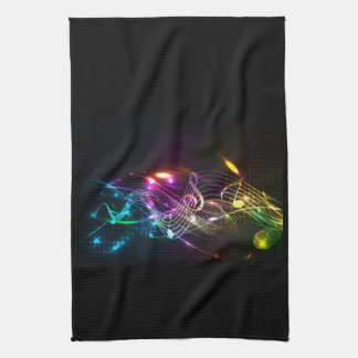 Music Notes in Color for Music-lovers Tea Towel