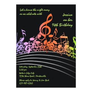 Music Notes Invitation