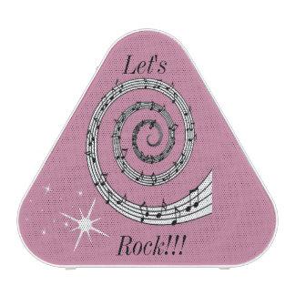 MUSIC NOTES LET'S ROCK!!! PIELADIUM SPEAKER