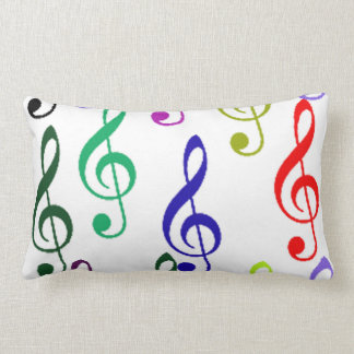 music notes lumbar cushion