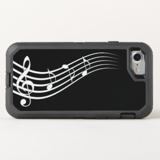 music notes melody OtterBox defender iPhone 8/7 case