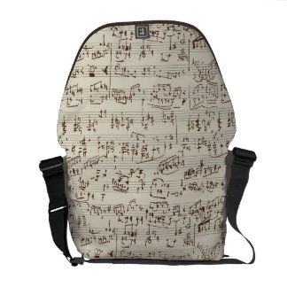 Music notes messenger bags