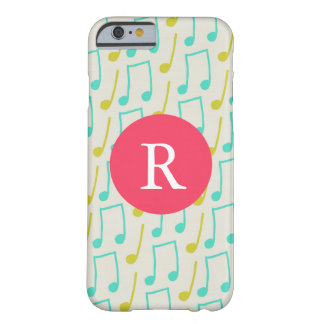 Music Notes Monogram Barely There iPhone 6 Case