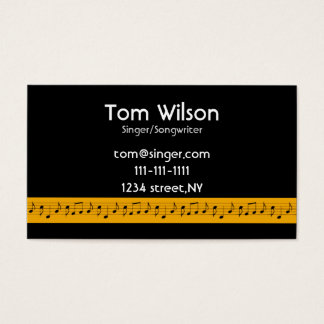 music notes music  Business card
