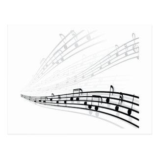 Music Notes ~ Musical Notation Symbols Post Card