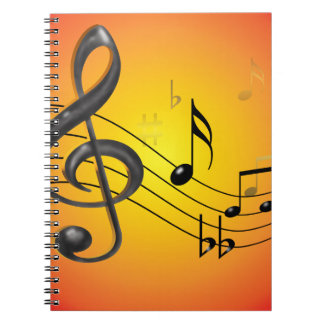 Music Notes Notebook