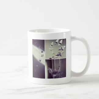 Music Notes Origami Crane Mobile Coffee Mug