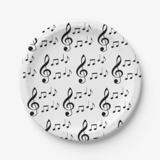"""Music Notes"" Paper Plates"