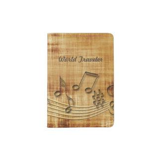 Music Notes Passport Holder