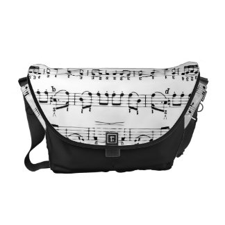 Music Notes Pattern Messenger Bag