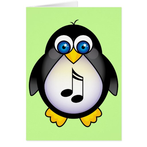 Music Notes Penguin Gift Cards