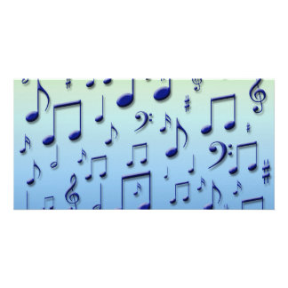Music notes personalised photo card