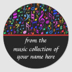 Music Notes Personalised Sticker