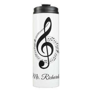Music Notes Personalised Thermal Tumbler
