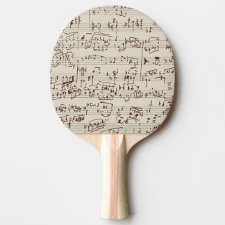 Music notes ping pong paddle