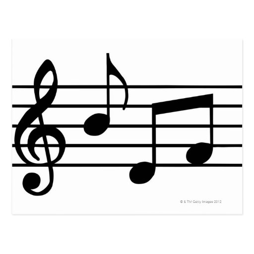 Music Notes Post Card