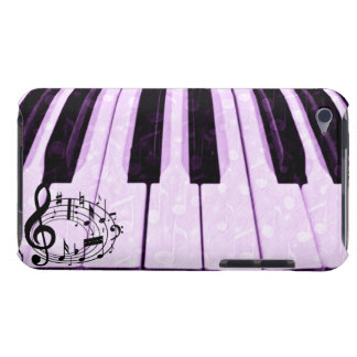 Music notes & Purple Keys_Case Barely There iPod Case