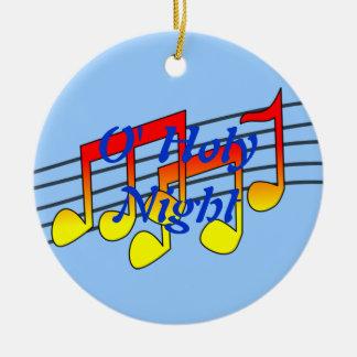 music notes round ceramic decoration
