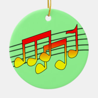 music notes round ceramic decoration