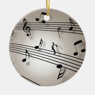Music Notes - Sheet Music Christmas Tree Ornament