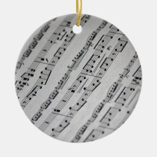 music notes sheet music christmas ornaments