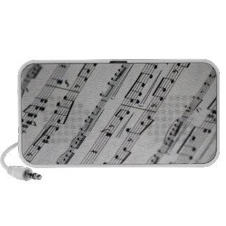 music notes sheet music mp3 speaker