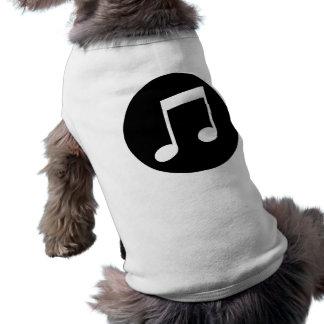 Music Notes Sleeveless Dog Shirt