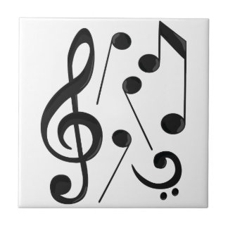 Music Notes Small Square Tile