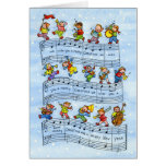 Music Notes Song for Kids-Christmas Greeting Card