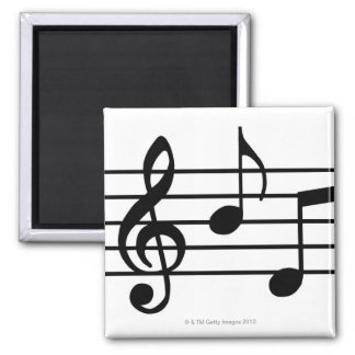 Music Notes Square Magnet