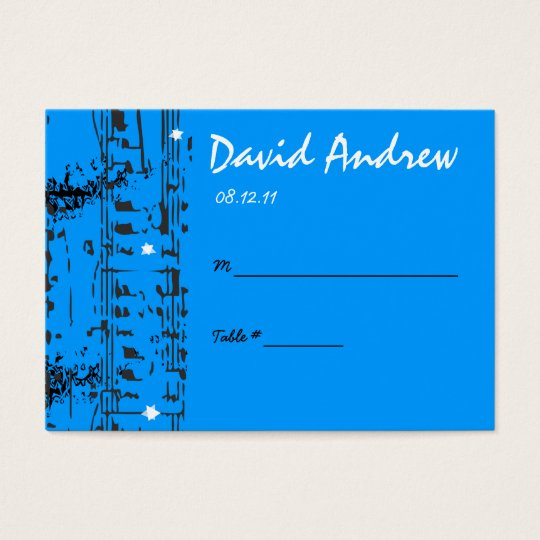 Music Notes Stars Table Place Card Setting