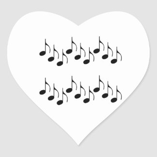 Music Notes Heart Stickers