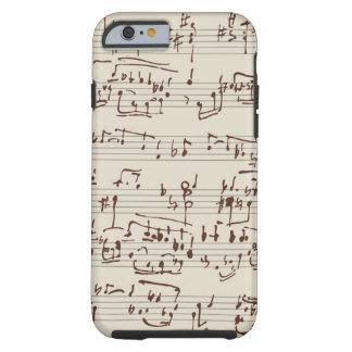 Music notes tough iPhone 6 case