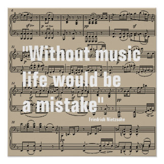 music notes with quote poster