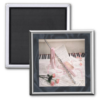 Music of Flute and Keys Magnet