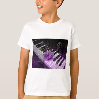 Music Of Love,Purle_ Shirt