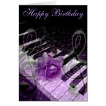 Music Of Love,Purle_ Stationery Note Card
