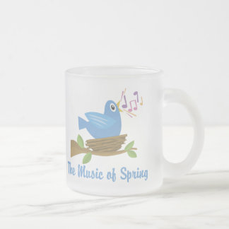 Music of Spring 10 Oz Frosted Glass Coffee Mug
