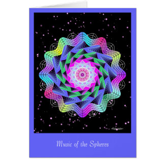 Music of the Spheres Greeting Card