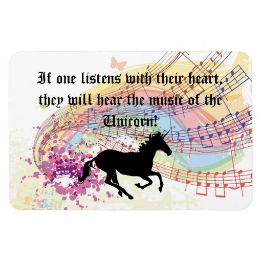 Music Of The Unicorn Rectangle Magnet