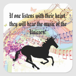Music Of The Unicorn Square Sticker