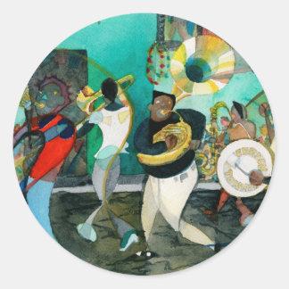"Music Painting ""New Orleans Jazz"" Classic Round Sticker"