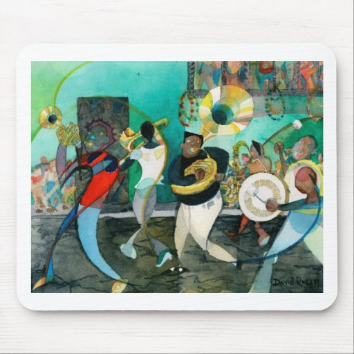 """Music Painting """"New Orleans Jazz"""" Mousepads"""
