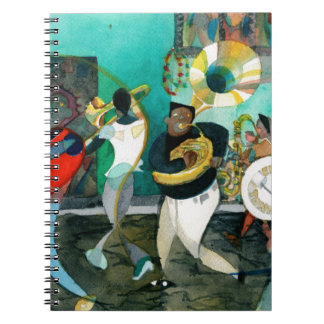 Music Painting New Orleans Jazz Spiral Note Book