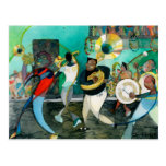 "Music Painting ""New Orleans Jazz"" Postcard"