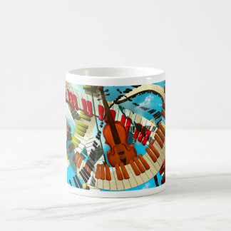 Music paintings Piano, electric guitar, jazz songs Coffee Mugs