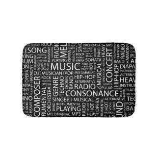 MUSIC pattern word cloud Bath Mat