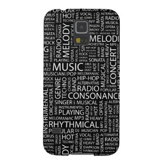 MUSIC pattern word cloud Galaxy S5 Cover